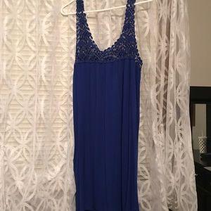 Blue charming Charlie crochet top dress